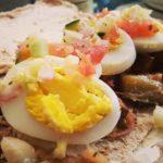 Healthy Eggplant & Egg Pita Sandwich (Sabich!)